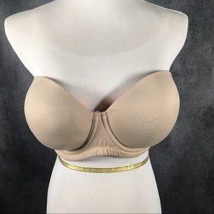 Cacique Nude Strapless Bra 38DD